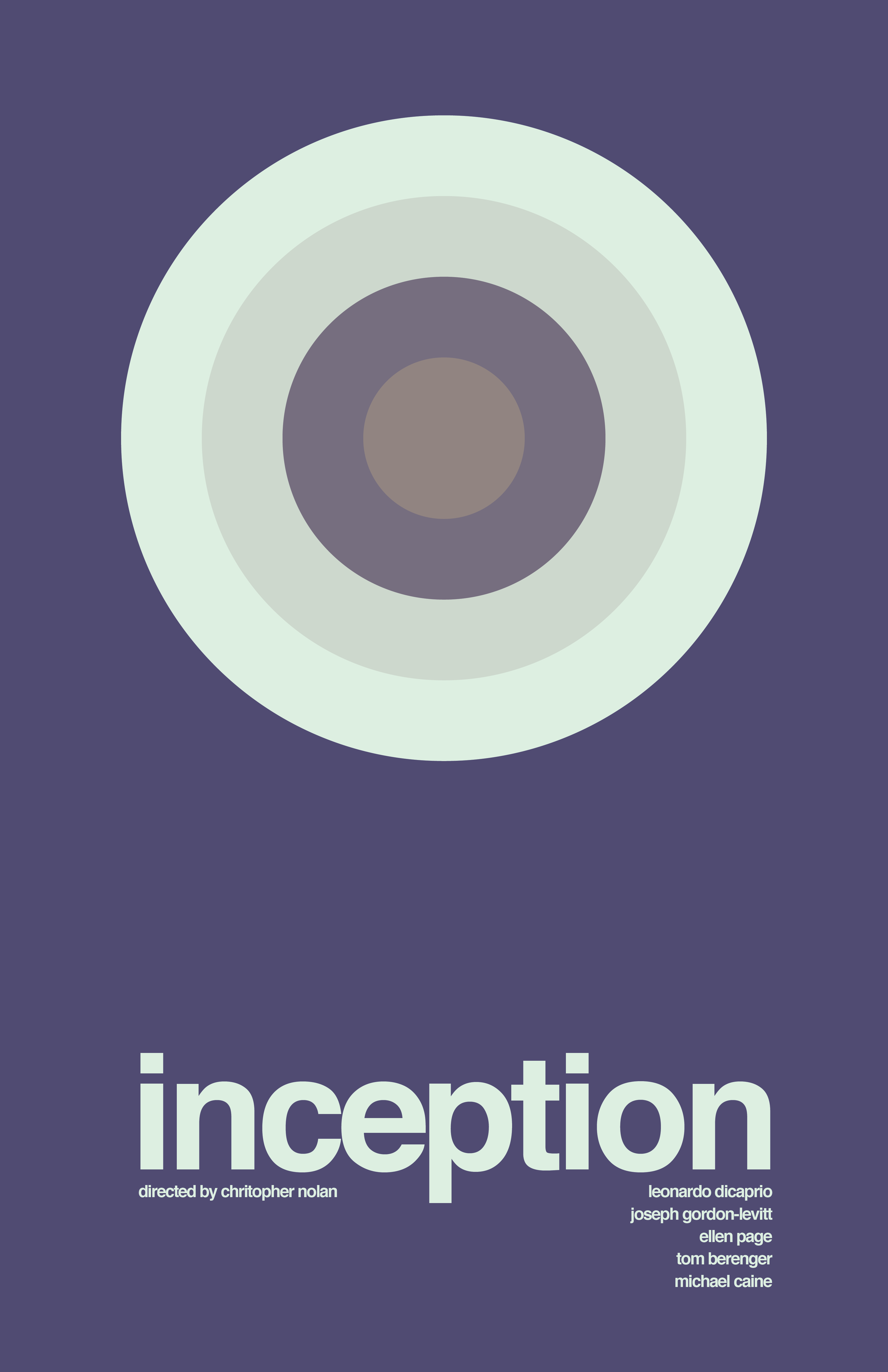 inception 2010 minimal movie poster by jake newton amusementphile minimal movie posters. Black Bedroom Furniture Sets. Home Design Ideas